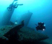 Schiffswrack am Meeresgrund, Brasilien