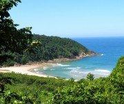 """Sicht auf den Strand """"Martim de Sá"""""""