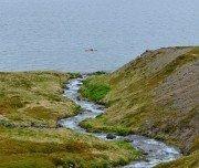 Kajak fahren abgelegene Fjorde