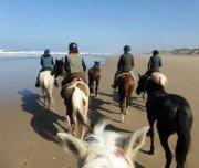Reiten am Sandstrand im Süden Marokkos