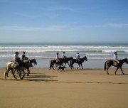 Reiten an der Atlantikküste Marokkos