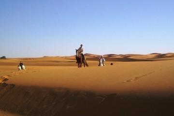 Trail Reiten durch die Sanddünen