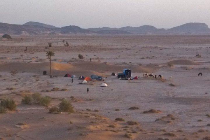 Zeltlager auf Trailritt Marokko