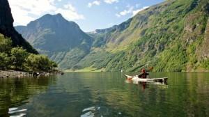Unterwegs mit dem Kajak in Norwegen