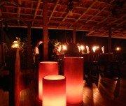 Selva Bananito - Abendessen bei Kerzenschein