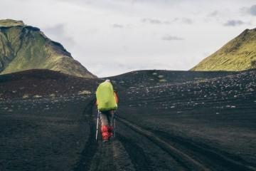 Wandern durch Lavafelder