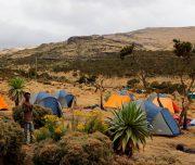 Camplager im Simiengebirge