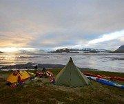 Camping auf der Kajaktour in Island