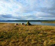 Camp auf der Kajakreise in Island