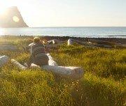 Wanderurlaub Island: Zelten am Meer