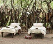 Betten im Kgotla Camp