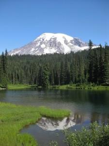 Sicht auf den Mount Rainier