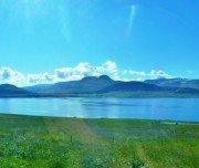 Wunderbare Landschaft entlang der Strecke