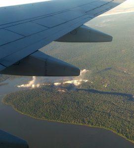 Cataratas del Iguazú vom Flugzeug aus
