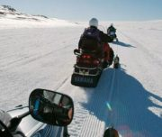 Snowmobile tour in Schweden