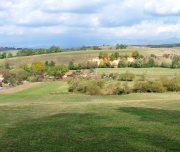 Sicht auf ein transsilvanisches Dorf