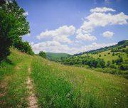 Wunderschöne Aussicht auf die Hügellandschaft