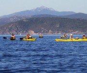 Kajak Fahrer vor der Insel Elba