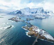 Lofoten Inseln von oben