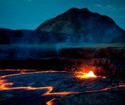 Lava des Vulkans Erta Ale