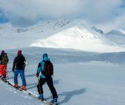 Skitouren Geher auf Svalbard