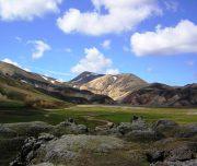 Farbenfrohe Landschaft im Landmannalaugar