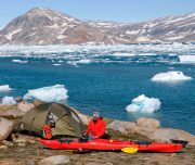 Zelten im Fjord